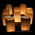 Suporte de vela de saco de papel personalizados de alta qualidade