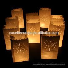 Sostenedor de vela de bolsa de papel personalizado de alta calidad