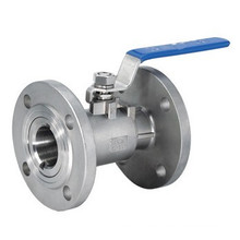 Válvula de bola de brida de acero inoxidable 1PC 304/316 (tipo guang)