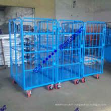 Conteneurs roulants à deux portes de 500 kg avec roulette de 6 po