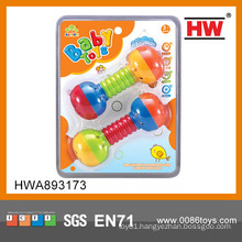 Attractive Lovely baby toy baby rattle toy barbell