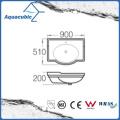 Semi-Recessed Bathroom Ceramic Cabinet Basin Hand Washing Sink (ACB4280)