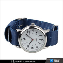 nylon leather watch band japan quartz stainless steel back watch