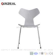 Grand Prix plywood Dining Chair with Metal Legs for Free consultation