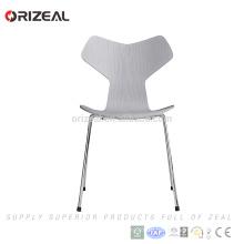 Гран-При переклейки Обедая стул с металлическими ножками для бесплатной консультации