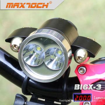 Maxtoch BI6X-3 Red Lights Power 18650 Pack Aluminum Bike Lights