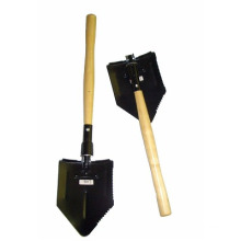 Gardening Folding Steel Shovel with Wooden Handle (CL2T-SL301)