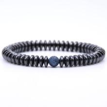 Hematit 8 MM Disc Beads Bracelet