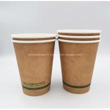Gobelet en papier jetable compostable PLA de la plus haute qualité 16oz