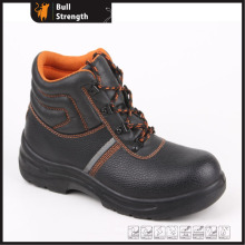 Industrial Leather Safety Boots with Steel Toe and Steel Midsole (SN5188)