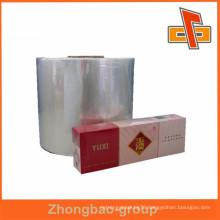 Transparent heat seal plastic bopp film manufacturer for cigarette packaging