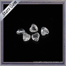 Factory Wholesale Price Heart Shape Natural White Topaz