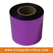 Aluminum Tamper Proof Embossing Purple Foil