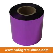 Aluminum Tamper Proof Embossing Purple Foil