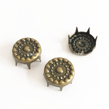 Seven Prongs Studs for Leather Applications