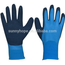 Chemical resistant 13 gauge nylon double dipped nitrile gloves
