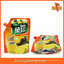 Eco amigável laminado stand up spout bolsa para suco de maçã