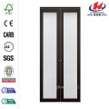Glass Composite Espresso Closet Bi-fold Door