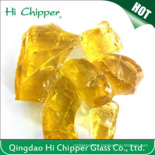 Yellow Glass Rock for Garden Decoration