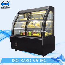 Front open sliding door cake chiller showcase