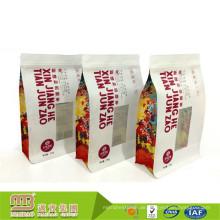 Fabrik Guter Preis Großhandel Hohe Barriere Maßgeschneiderte Lebensmittel Kraftpapiersack mit Zip-Lock