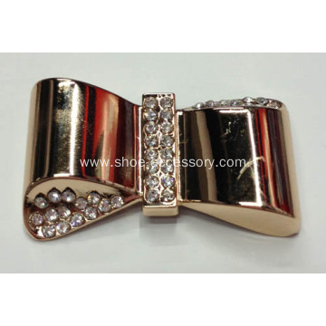 Bowknot Acrylic Rhinestone Buckle for Garments and Shoes