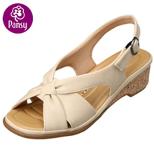 Pansy Comfort Shoes Back-belt Wooden Heel Summer Sandals For Ladies
