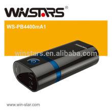 4400mAh Резервная аккумуляторная батарея со светодиодным факелом, блок питания, зарядка