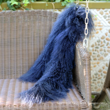 Alta qualidade Mongolian Lamb Fur Fashion Scarf