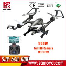 Drone Profesional 668-R8W 2.4GHz WiFi FPV 5.0MP 1080P HD Cámara Selfie Drone con una clave de retorno 3D Flips LED Flash Light RTF