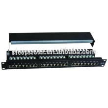 "24 port/way CAT5E Shielded patch panel -1U 19"" rack mount rj45 ethernet network"