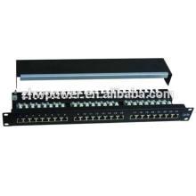 24-портовая патч-панель настенного крепления cat6, патч-панель utp cat6e, патч-панель rj45 с хорошей ценой