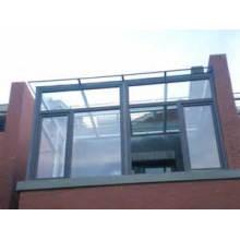 Venta caliente ventana de deslizamiento de doble acristalamiento de aluminio