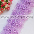 High quality purple color faux beaded link chains for wedding tree décor