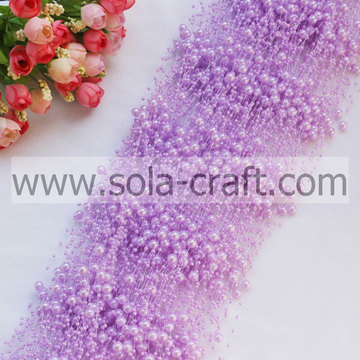 3 + 8MM luce ABS Purple Pearl ghirlanda di perline per decorazione