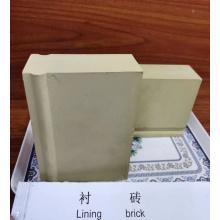 Briques de revêtement en céramique d'alumine de résistance à hautes températures