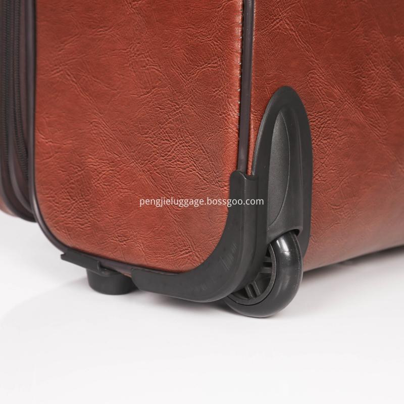 cheap fashion PU 4wheels Luggage