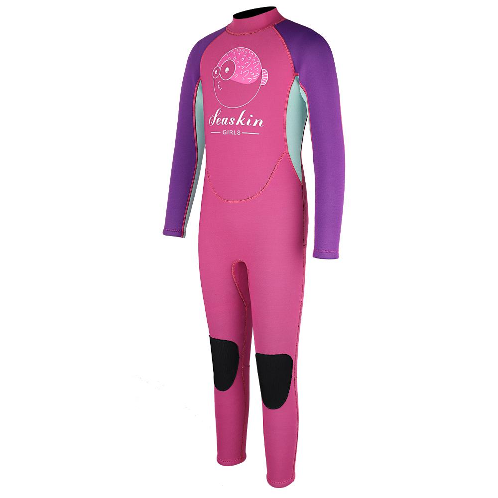 Seaskin Kids Back Zip Full Suit