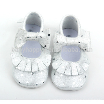 Hot selling infant soft sole leather shoes beautiful girls shoes