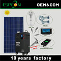 Off grid portable solar power generator system with Radio player