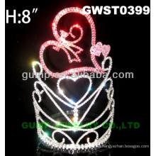 Corazón corona de tiara de cristal-GWST0399