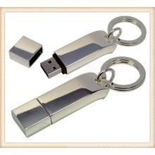 Novo Metal Keychain Stick em forma de 4GB USB Flash Drive (ED033)