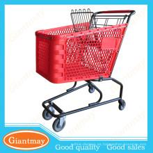 carritos de compras plásticos de la tienda de comestibles para la venta