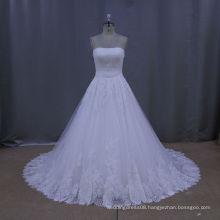 Pretty train handmade flower designer wedding dresses hochzeitskleider