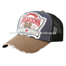 Promotional Trucker Mesh Cap with Applique and Embroidery, 5 Styles Available
