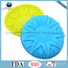 """3D цветок большой размер силиконовые рождения торт прессформы для партии Sc55 (10 """")"""