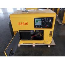 Generador diesel silencioso simple de la fase 60Hz / 6kw de la CA con el tablero digital del panel para el hogar y el uso de la tienda