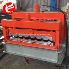 Automatic steel roof panel glazed tile forming machine