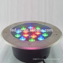 Lumière souterraine led 15w RGB avec lumens élevés