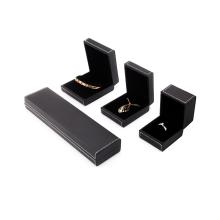Cajas de joyería de cuero negro